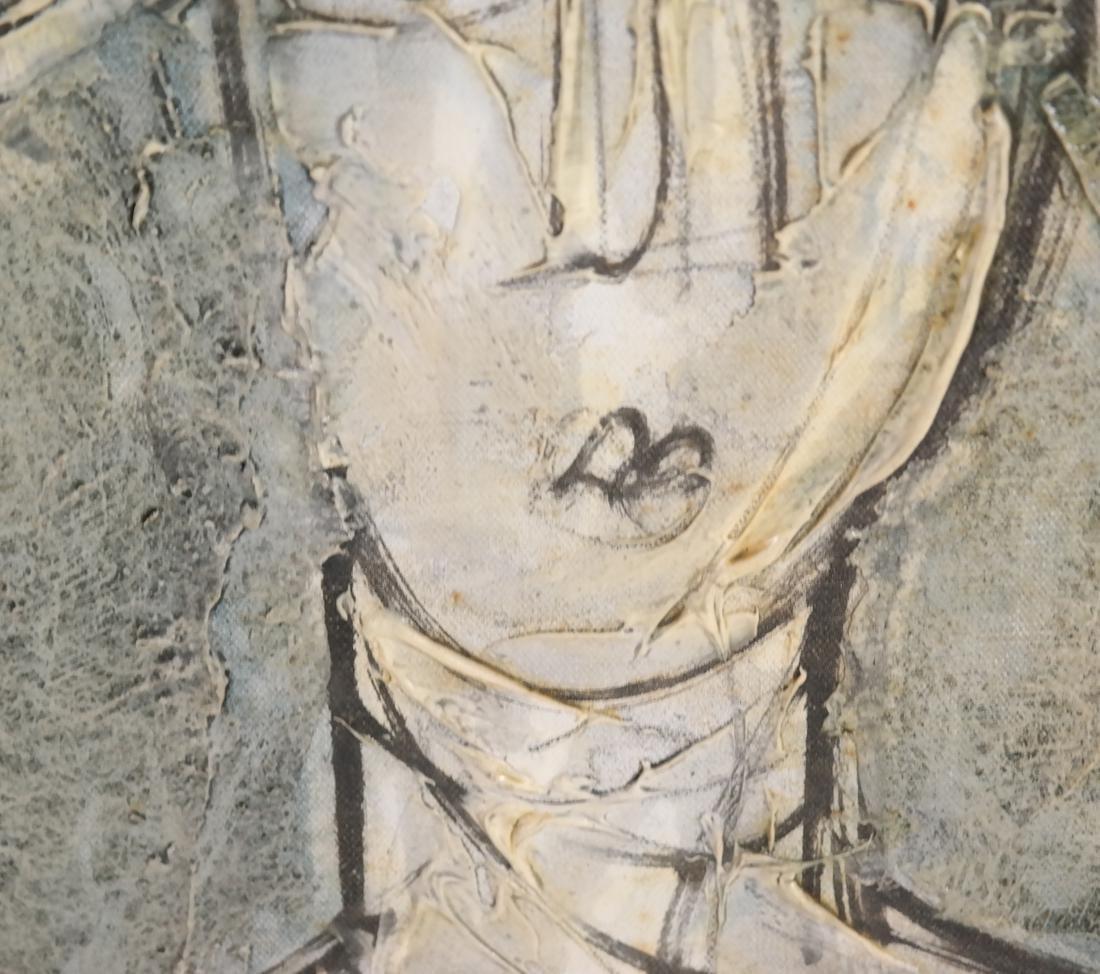 Cubist Style Portrait Bust, Oil/Canvas - 4