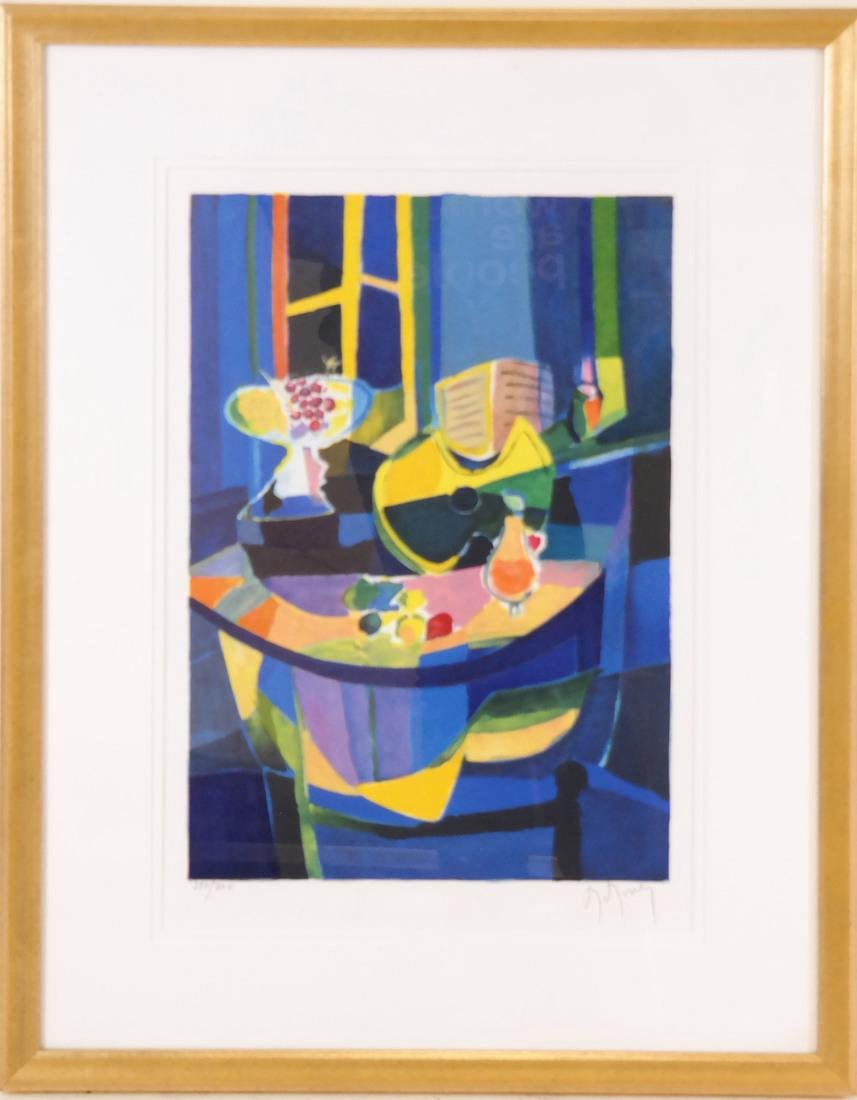 Framed Cubist Style Still Life Lithograph - 2