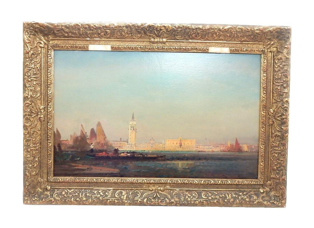 """After Felix Ziem, Oil Painting """"Venice"""""""