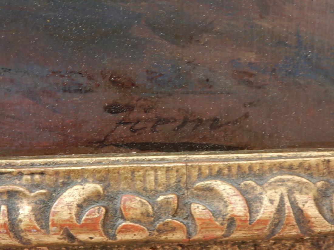 """After Felix Ziem, Oil Painting """"Venice"""" - 4"""
