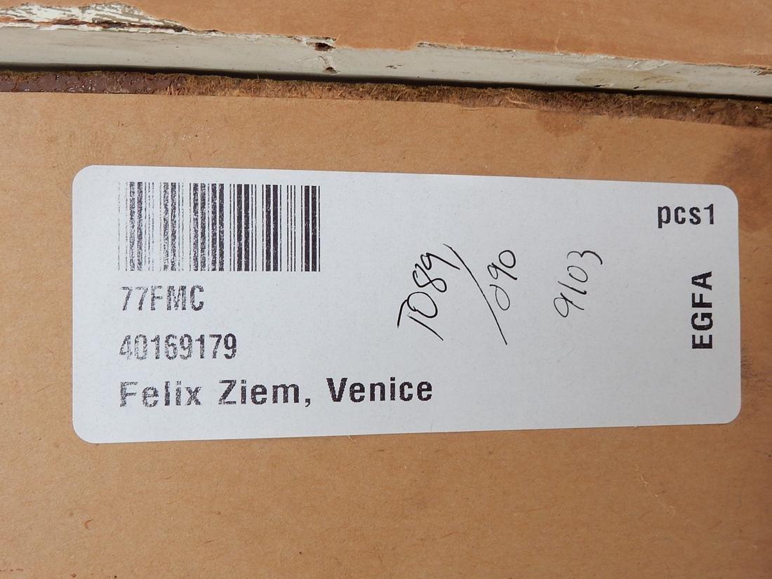 """After Felix Ziem, Oil Painting """"Venice"""" - 6"""