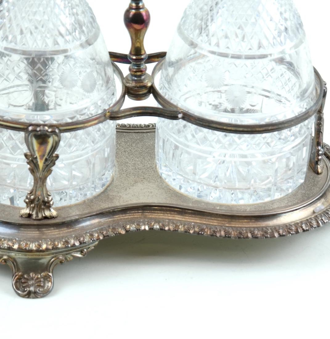 Silver-Plated and Crystal Tantalus Set - 4