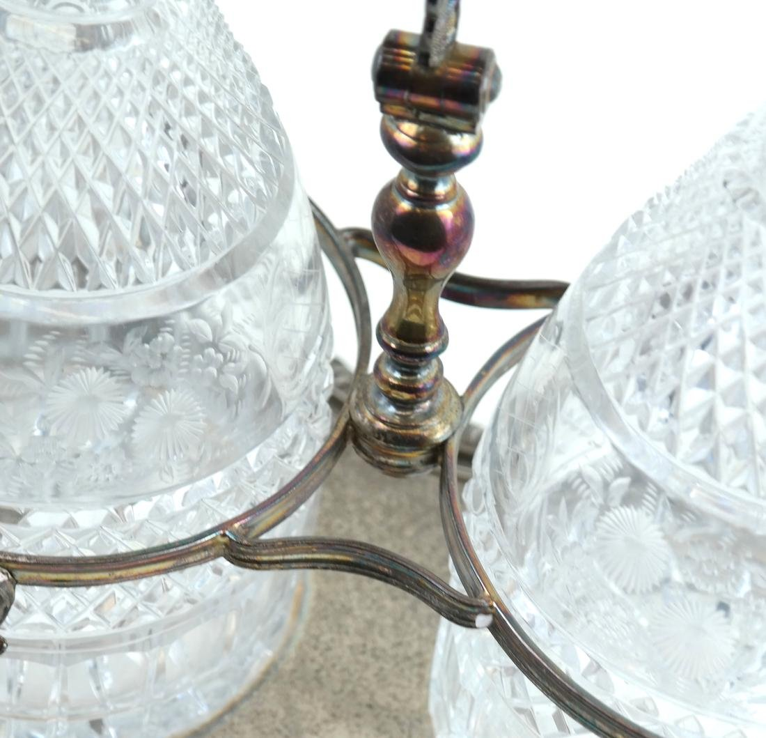 Silver-Plated and Crystal Tantalus Set - 5