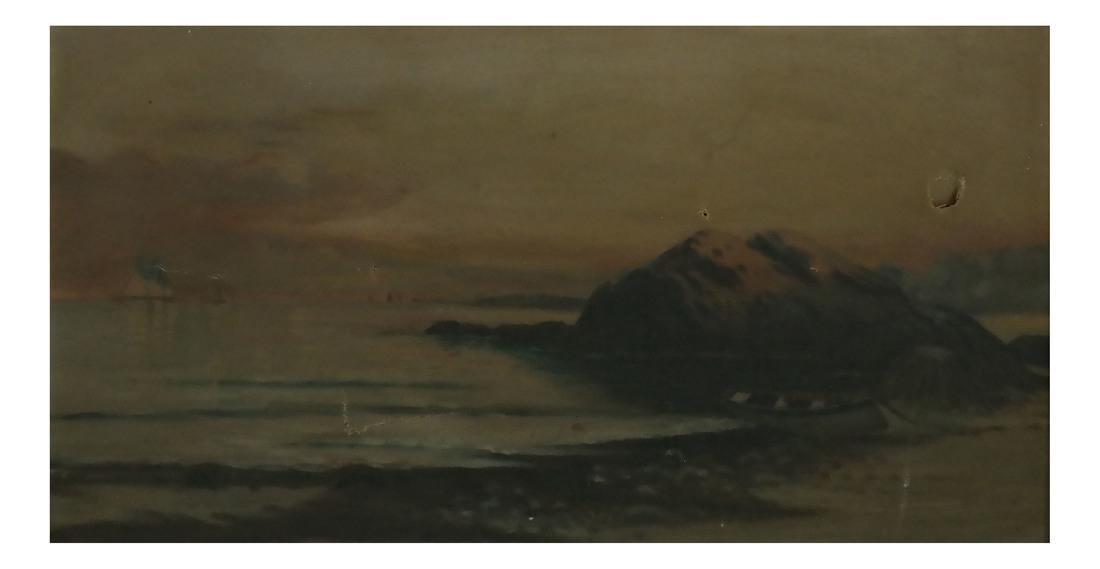 Shore Scene, Oil on Canvas