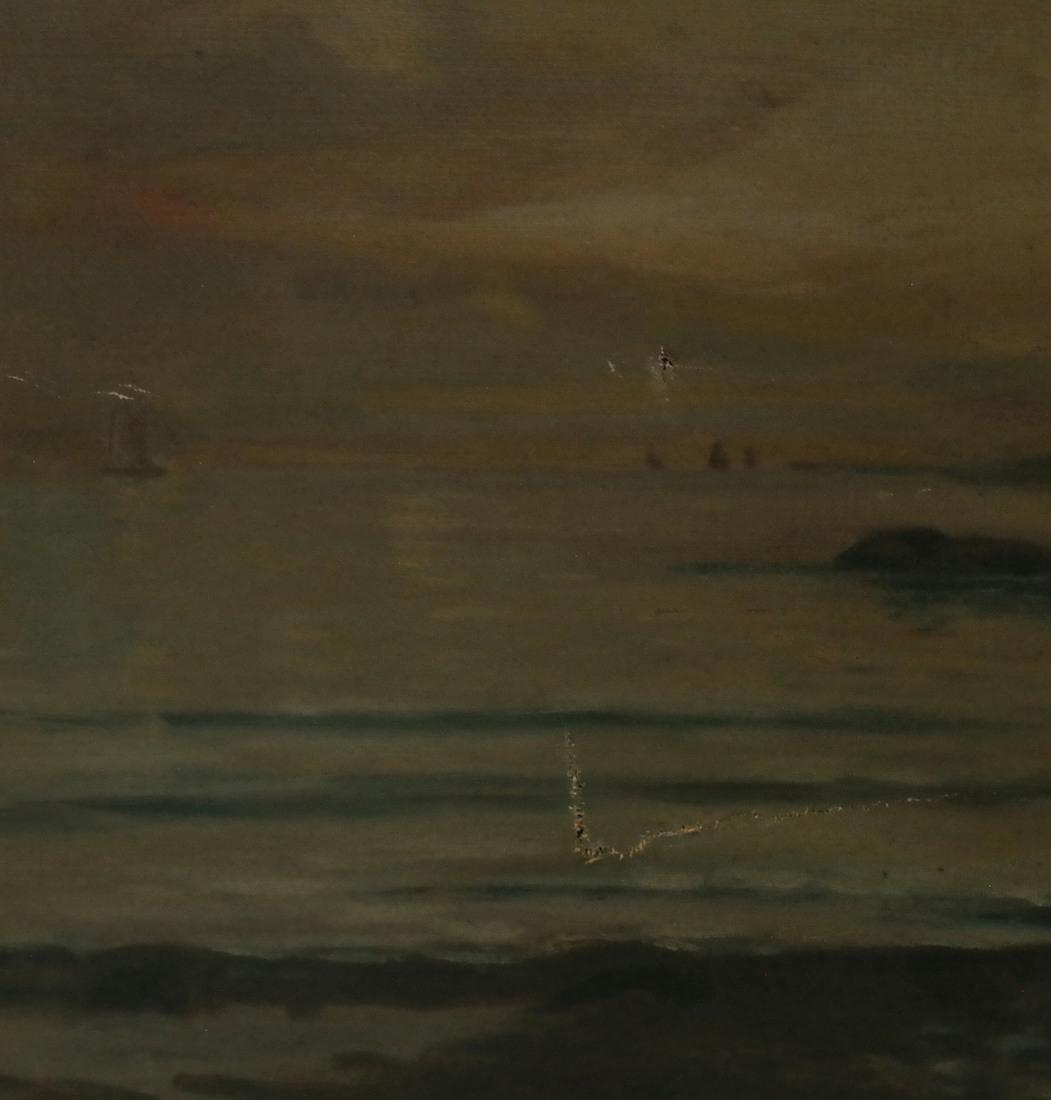 Shore Scene, Oil on Canvas - 5