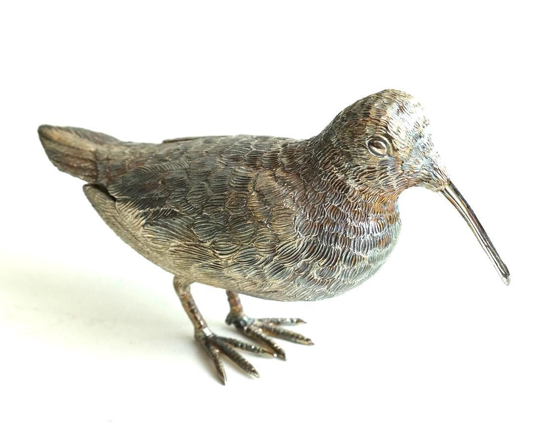 Pair Low Grade Silver Birds - 3