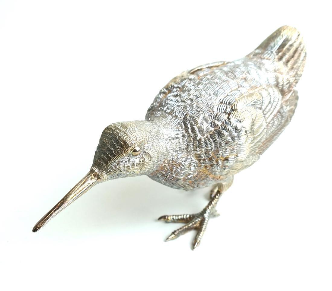 Pair Low Grade Silver Birds - 4