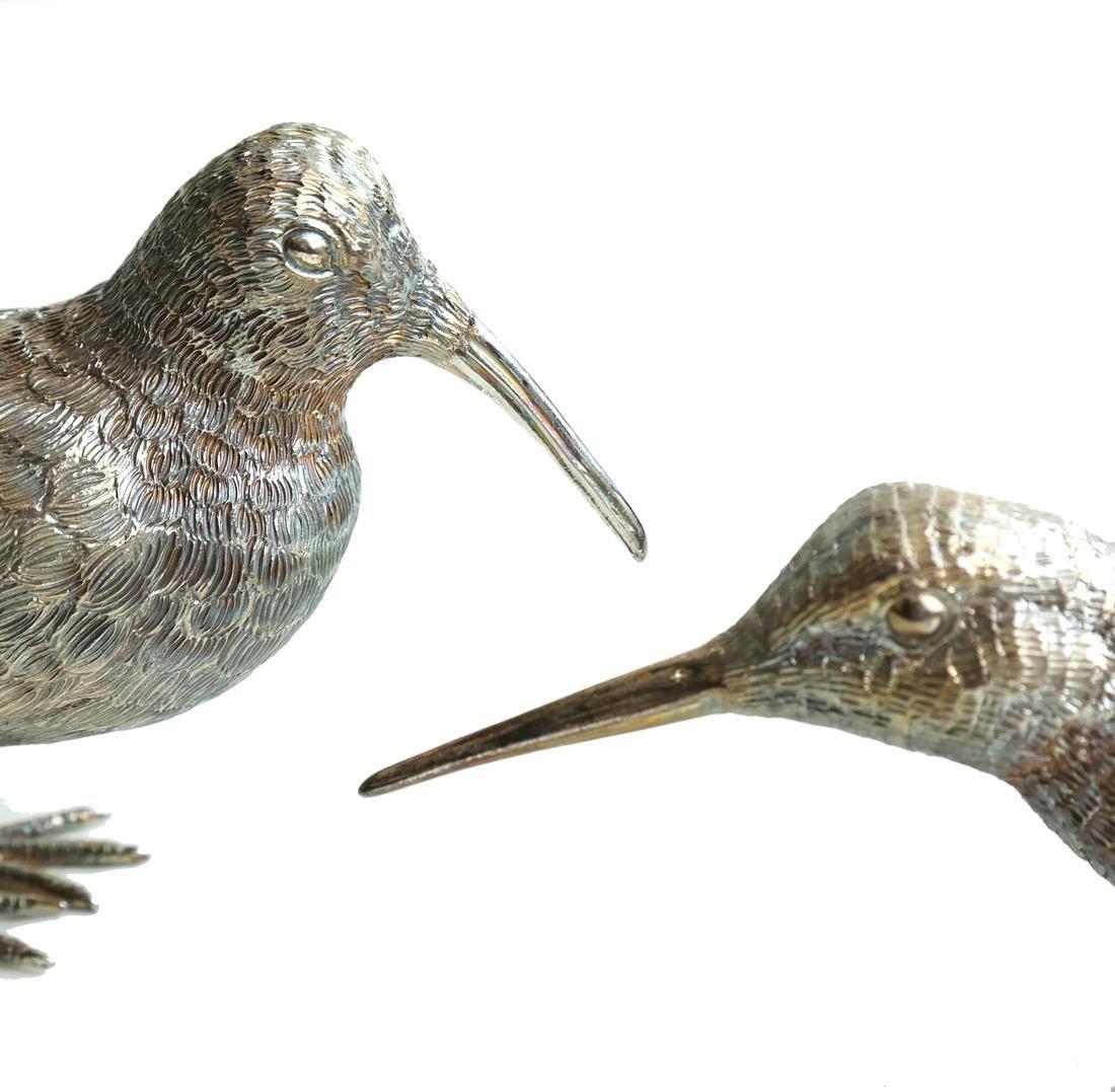 Pair Low Grade Silver Birds - 6