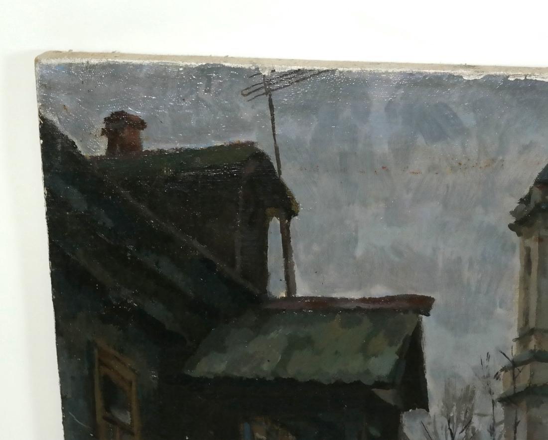 Village Scene, Oil on Canvas - 5