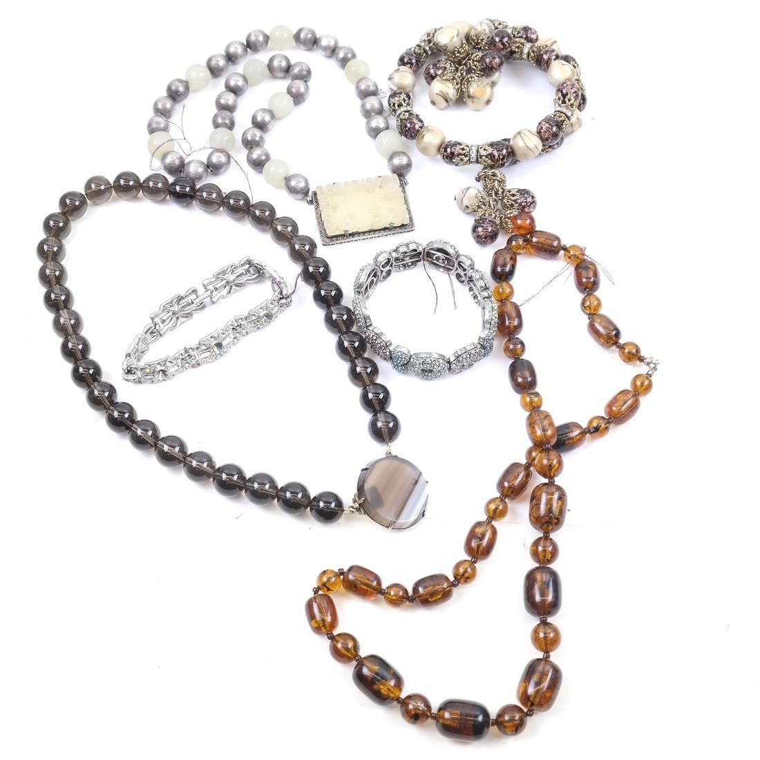 Jade and Assorted Neckaces & Bracelets