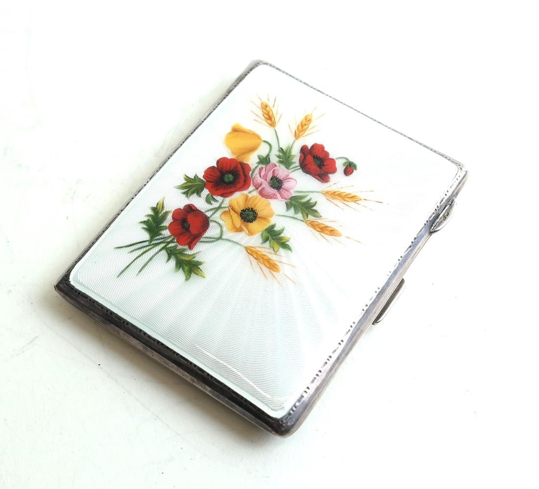 English Silver and Enamel Compact
