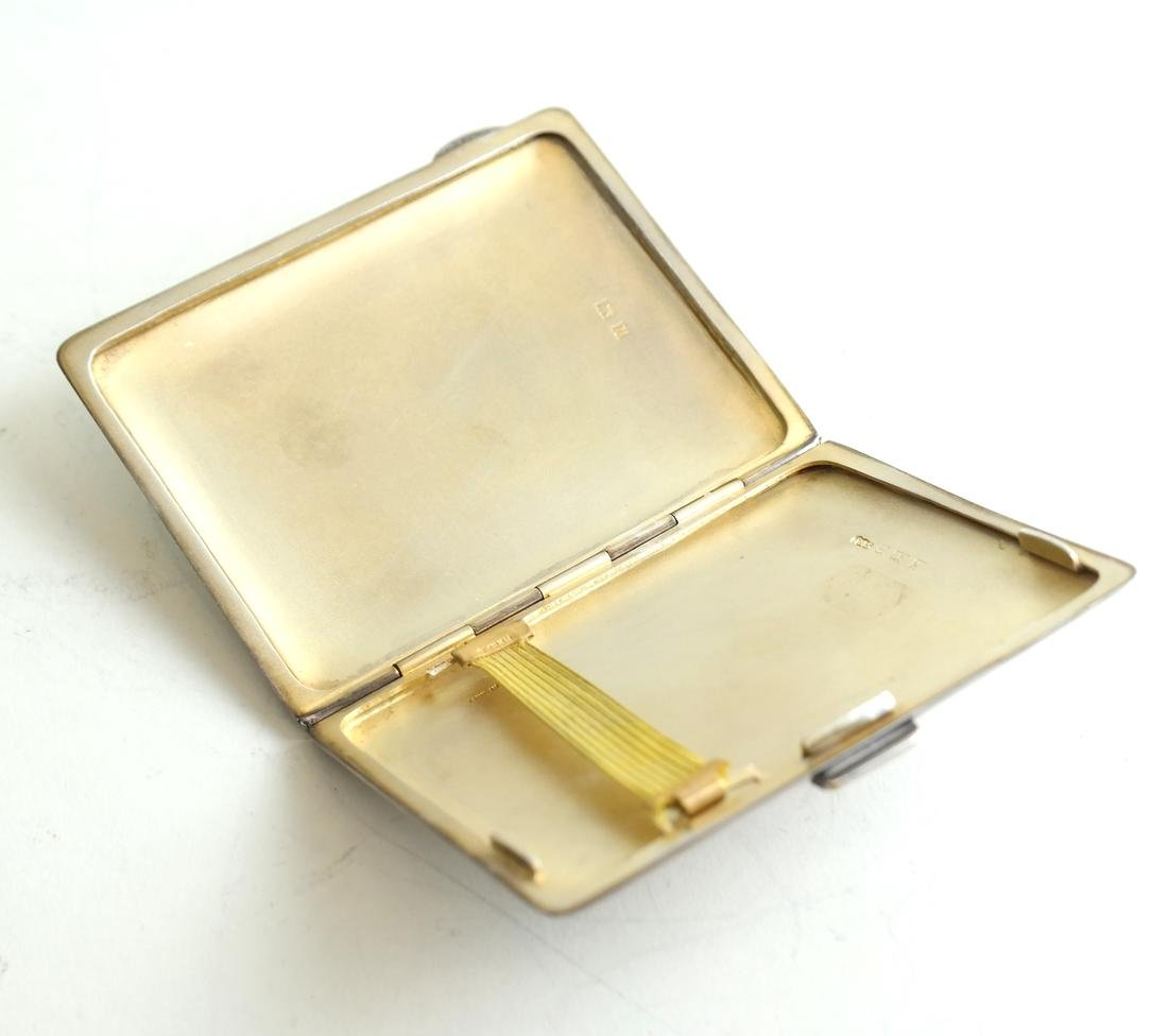 English Silver and Enamel Compact - 5
