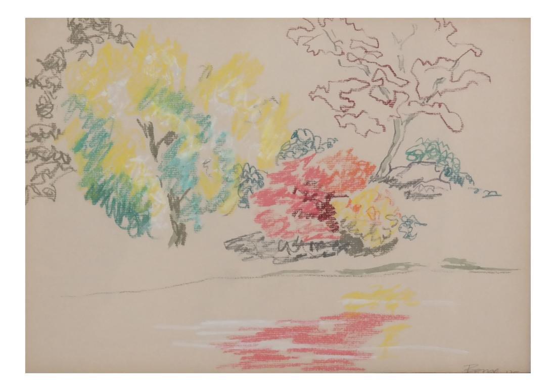 Boyce Benge, Abstract Landscape, W/C