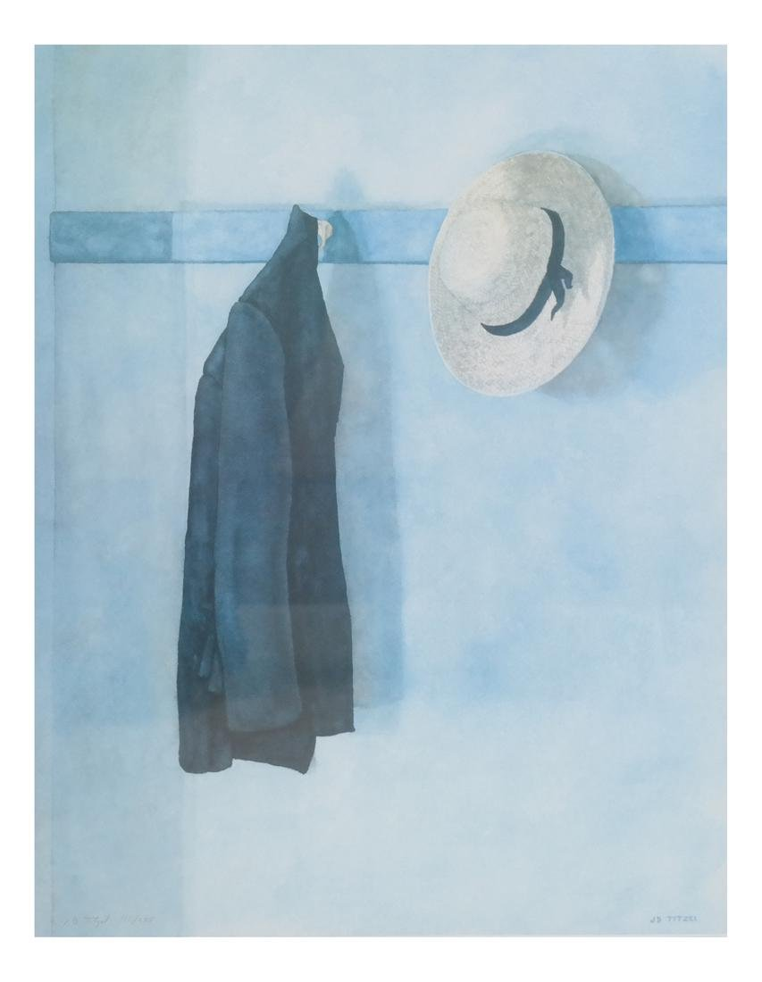 JD Titlel, Coat & Hat, Lithograph