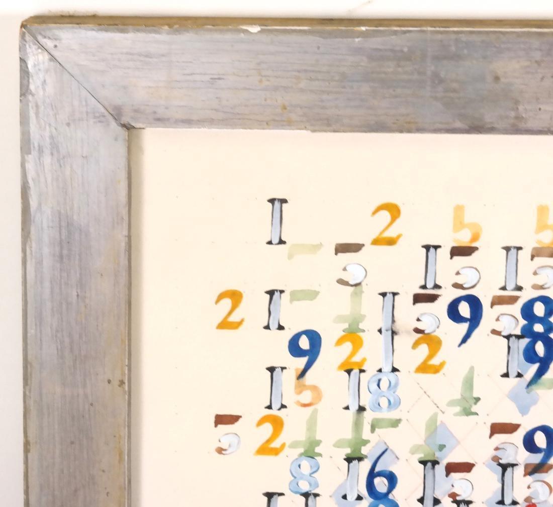 Boyce Benge, Numbers, Oil On Carton - 3