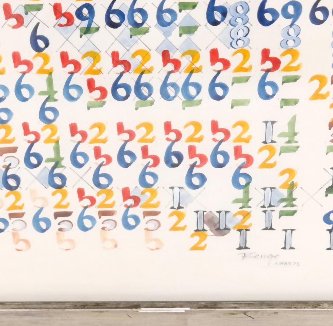 Boyce Benge, Numbers, Oil On Carton - 5