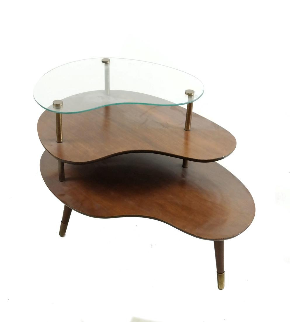 Kidney-Form Three Tier Table