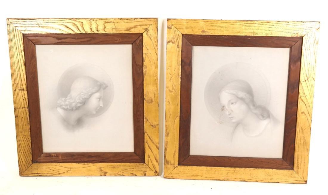 Pair of Angelic Portraits