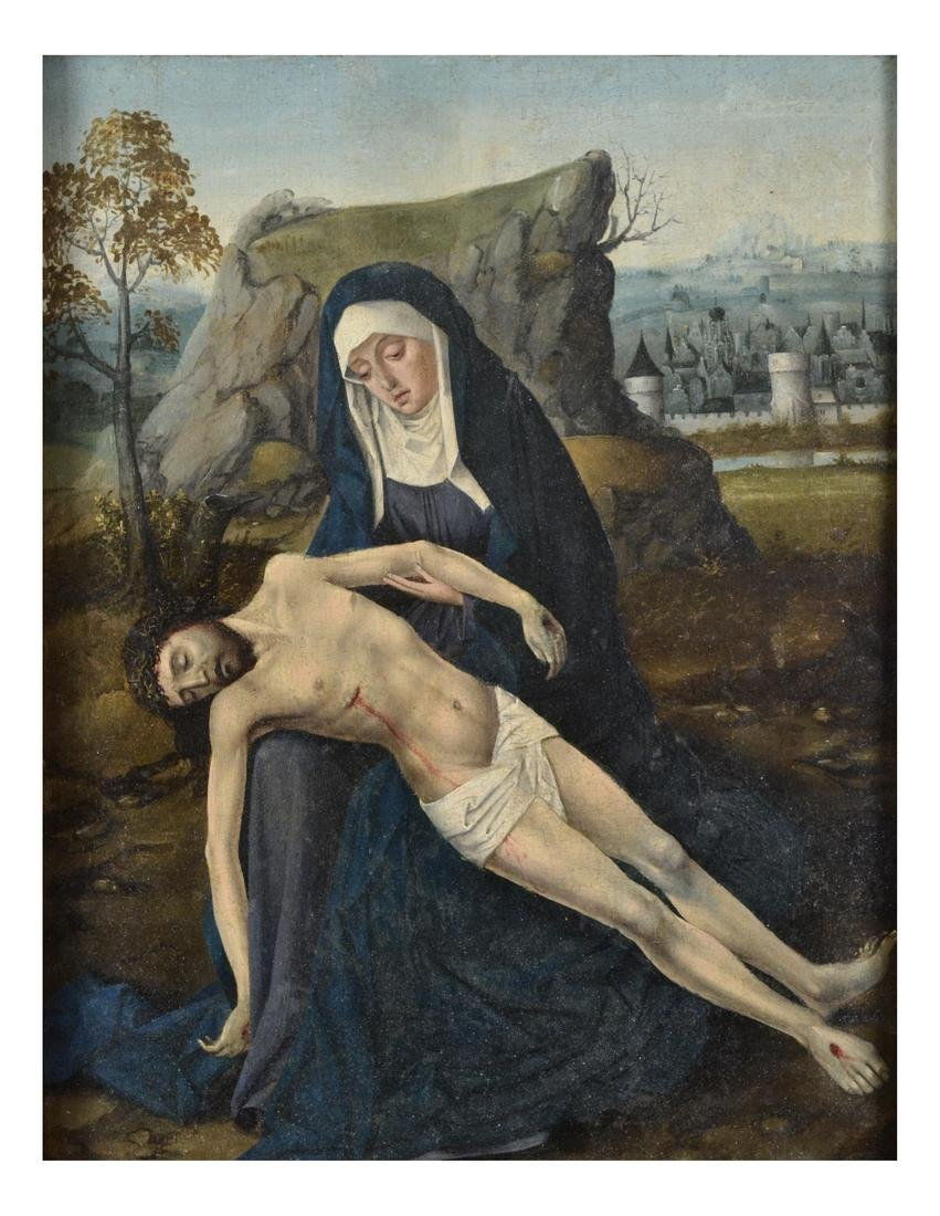 "Follower of Dirck Bouts- ""Pieta"""