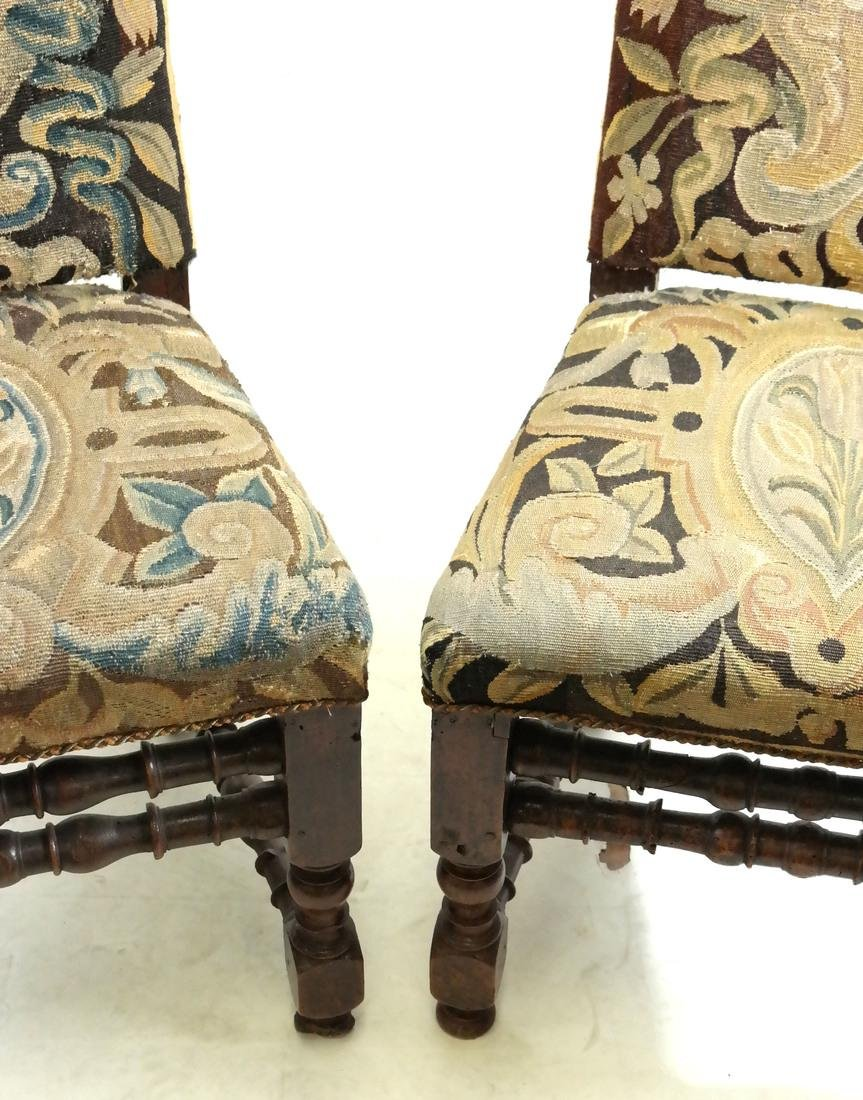 Pair of 18th C. Tapestry Side Chairs - 4