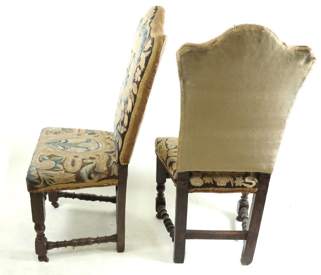 Pair of 18th C. Tapestry Side Chairs - 6