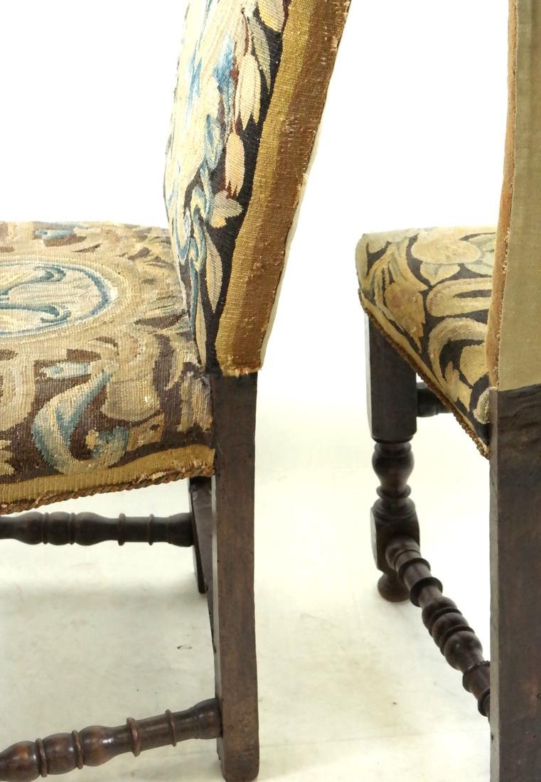 Pair of 18th C. Tapestry Side Chairs - 7