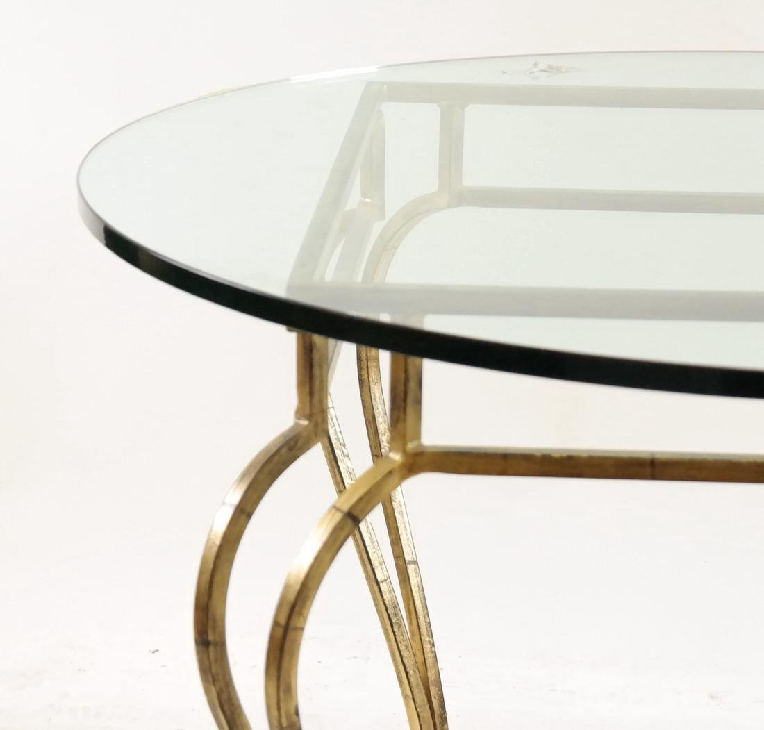 Gilt Steel & Glass Top Table - 2