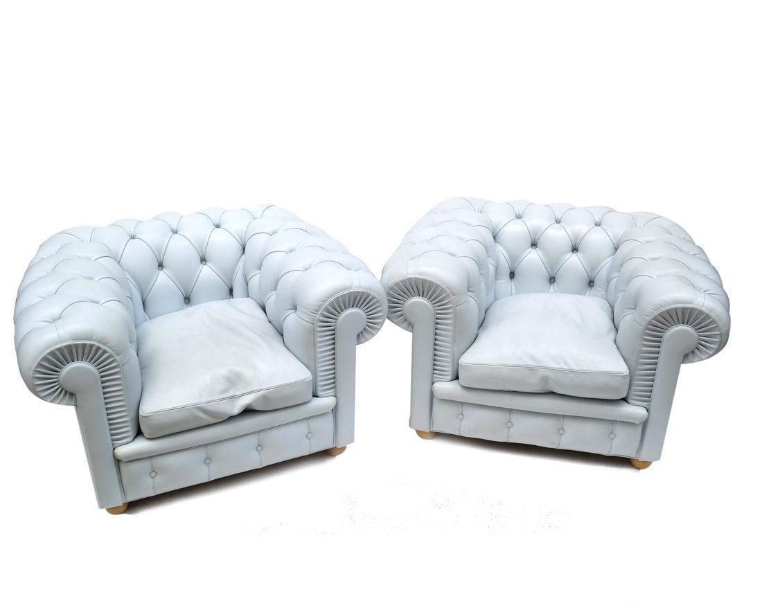 Pair of Poltrona Frau Club Chairs