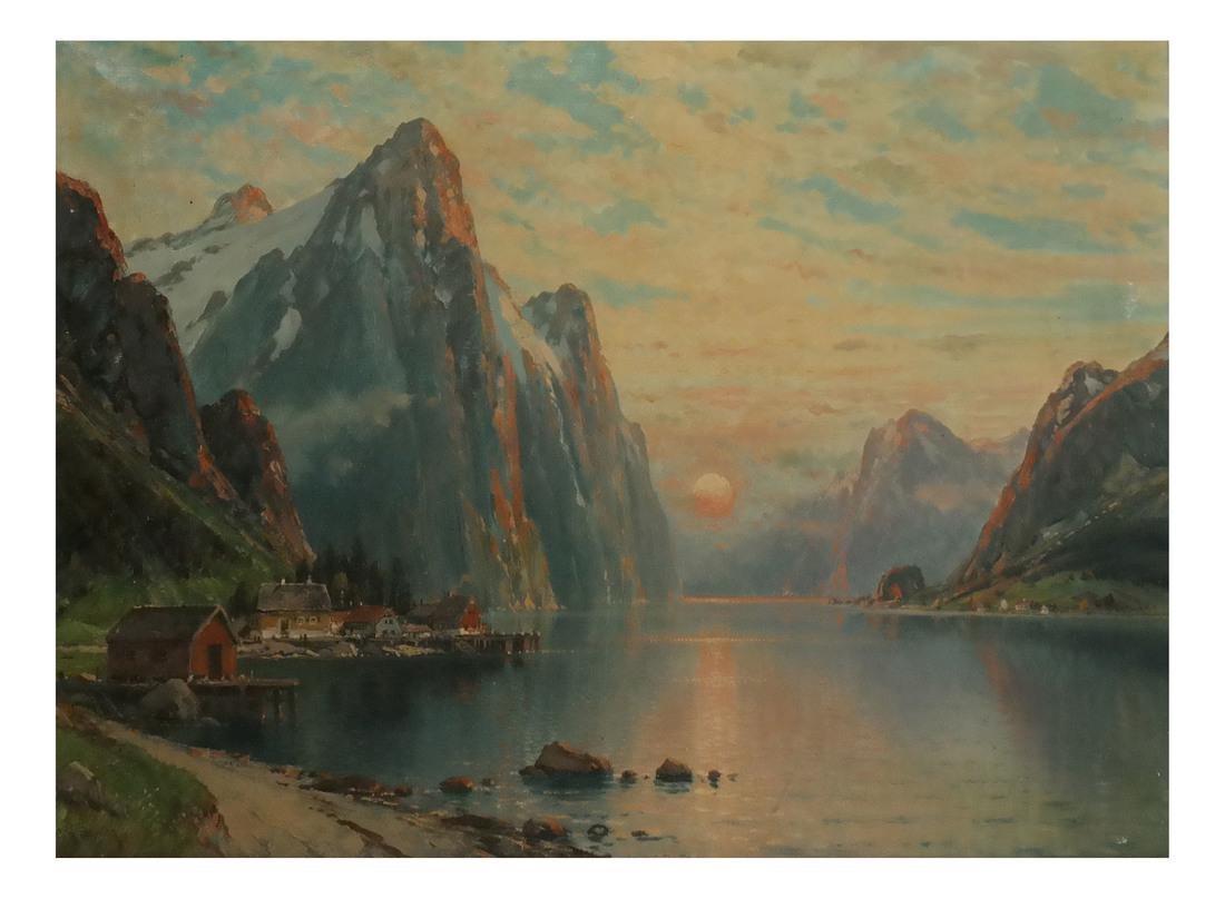 C.M. Schmitz, Mountain Village Scene