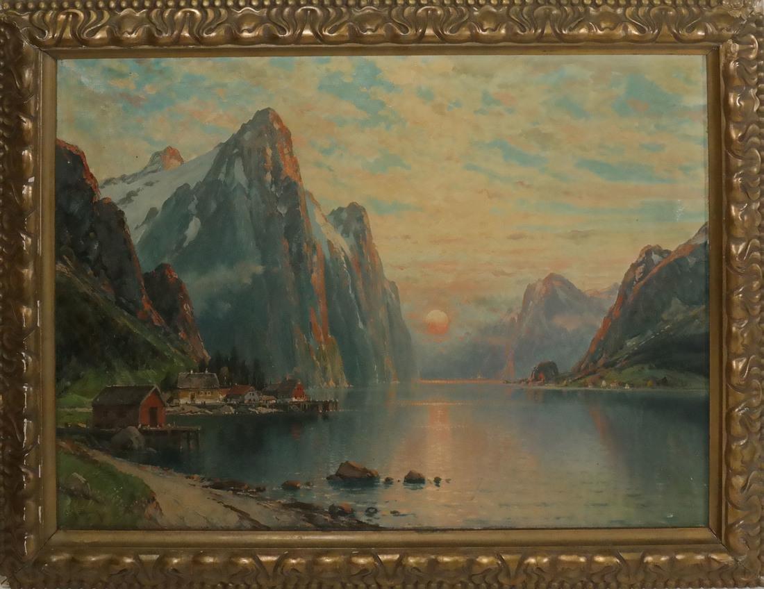 C.M. Schmitz, Mountain Village Scene - 2