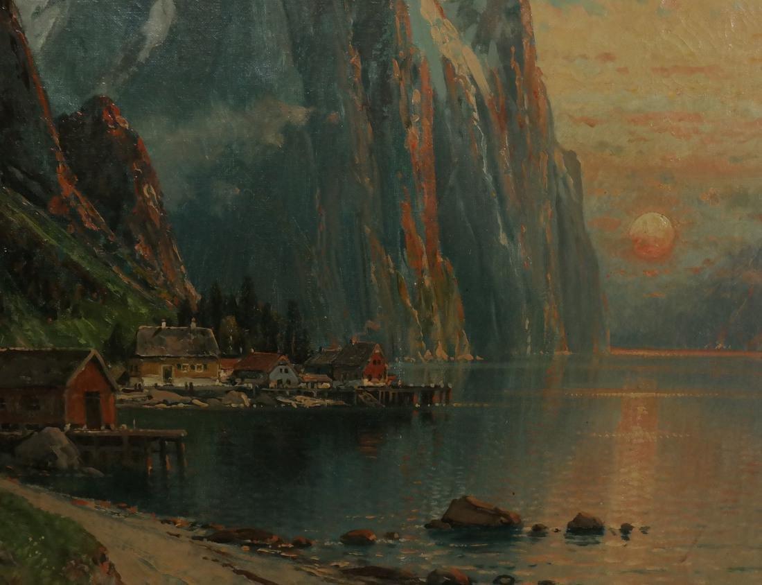 C.M. Schmitz, Mountain Village Scene - 3