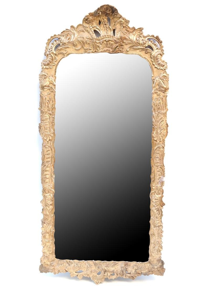 19th C. Composition Gilt Pier Mirror