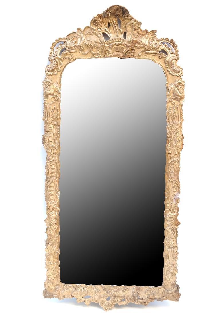 19th C. Composition Gilt Pier Mirror