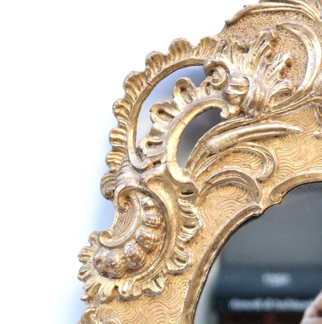 19th C. Composition Gilt Pier Mirror - 4