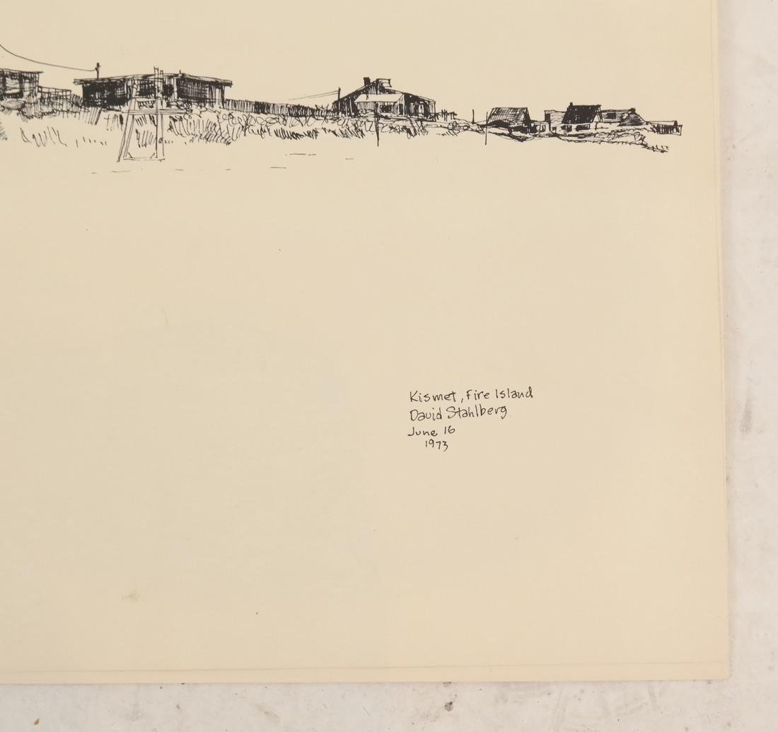 David Stahlberg, Four  Fire Island Scenes - 3