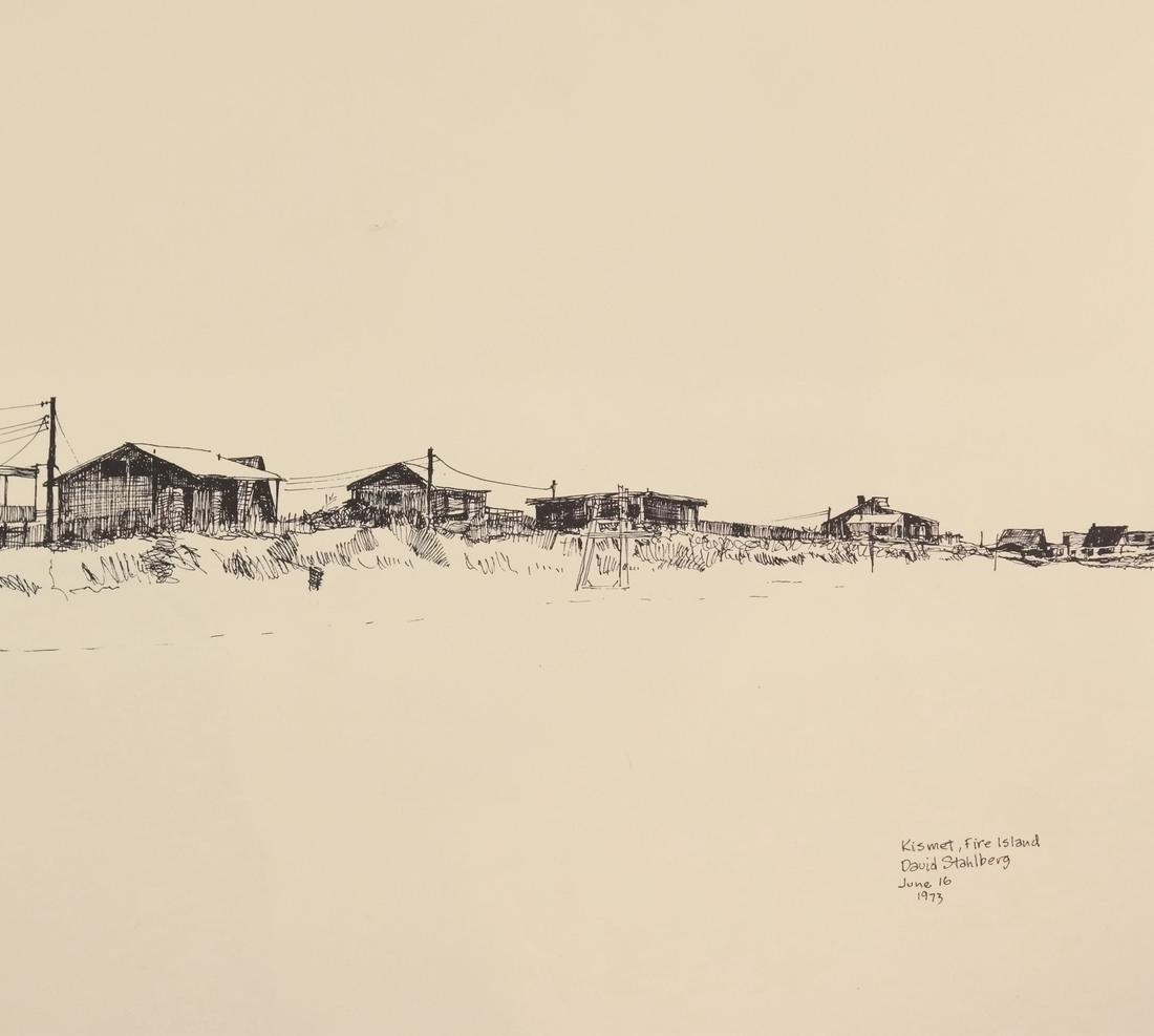 David Stahlberg, Four  Fire Island Scenes - 4