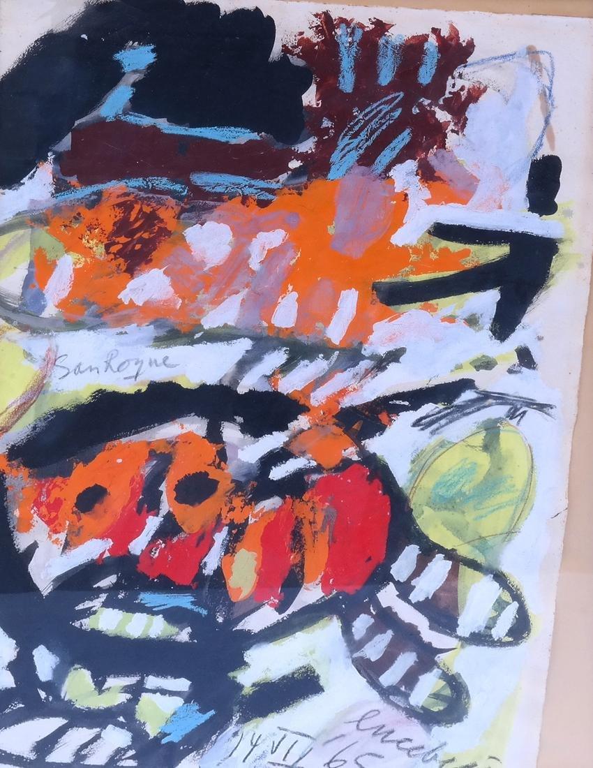 Lucebert, Abstract, Mixed Media on Paper