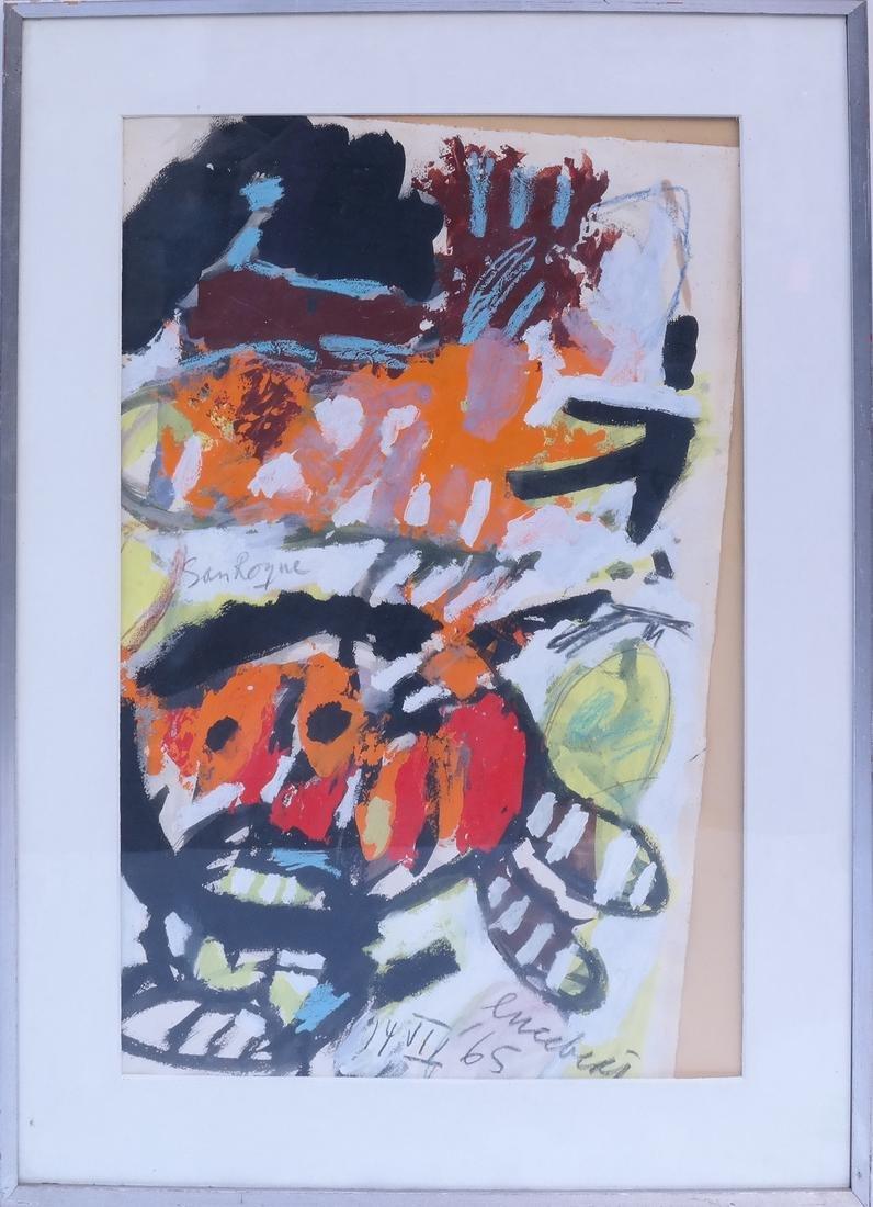 Lucebert, Abstract, Mixed Media on Paper - 2