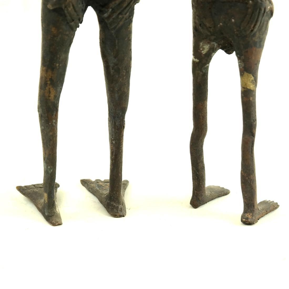 Pair of Metal Slave Figures - 3