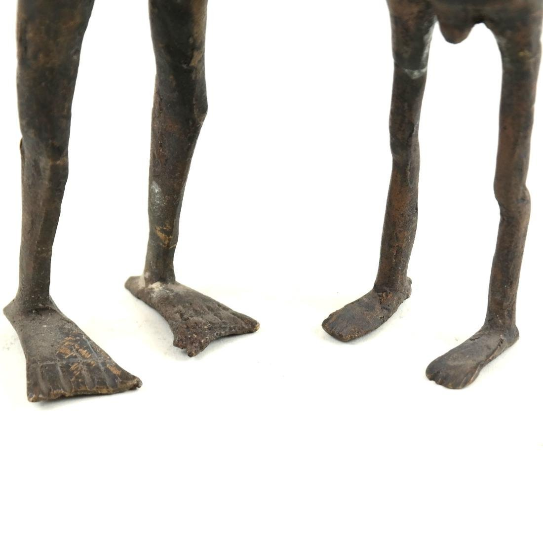 Pair of Metal Slave Figures - 4