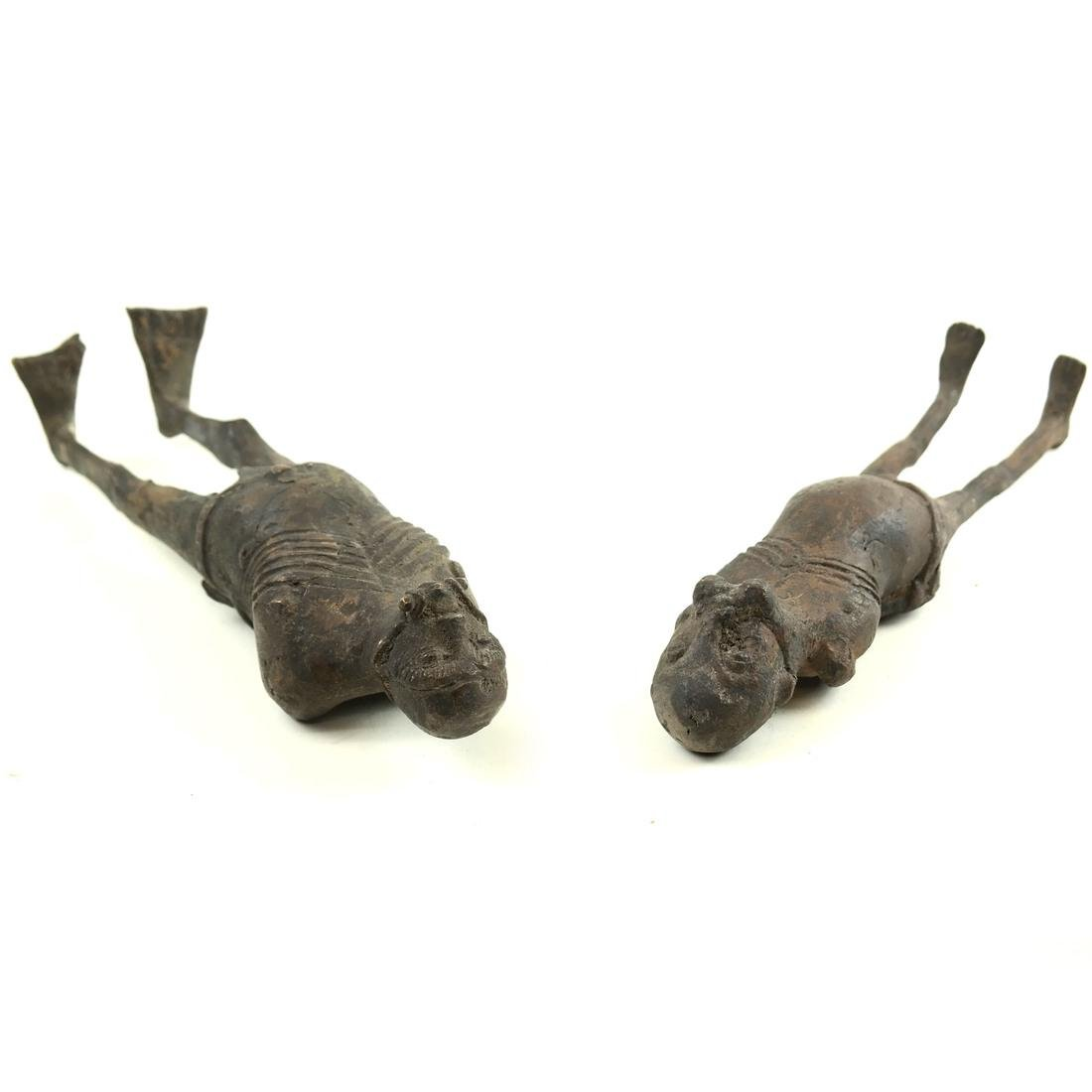 Pair of Metal Slave Figures - 9