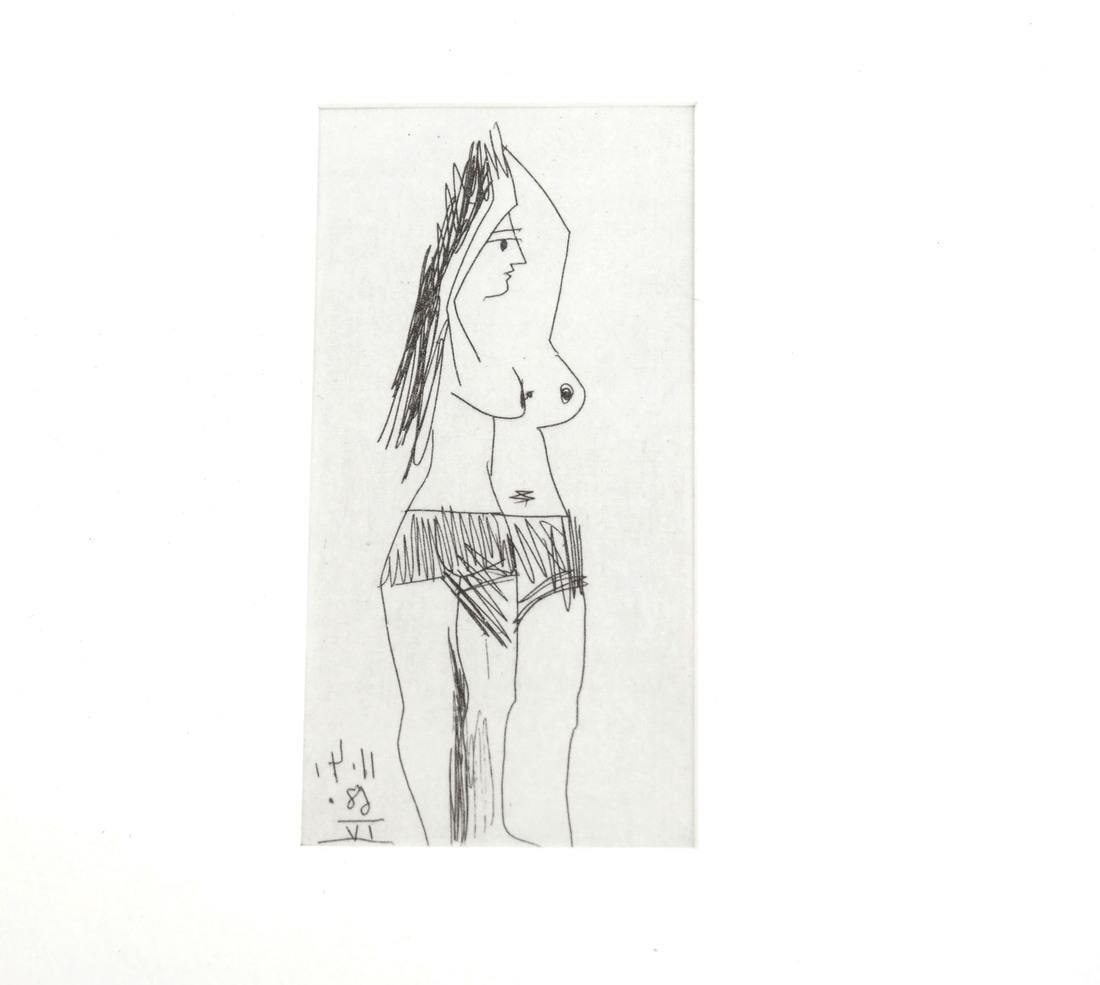 Picasso, Three Nude Prints - 5
