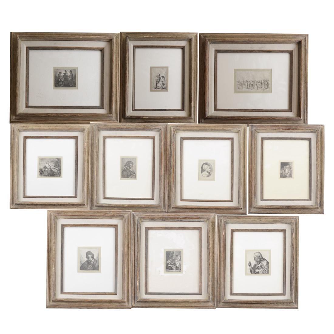 Ten Various Framed Prints