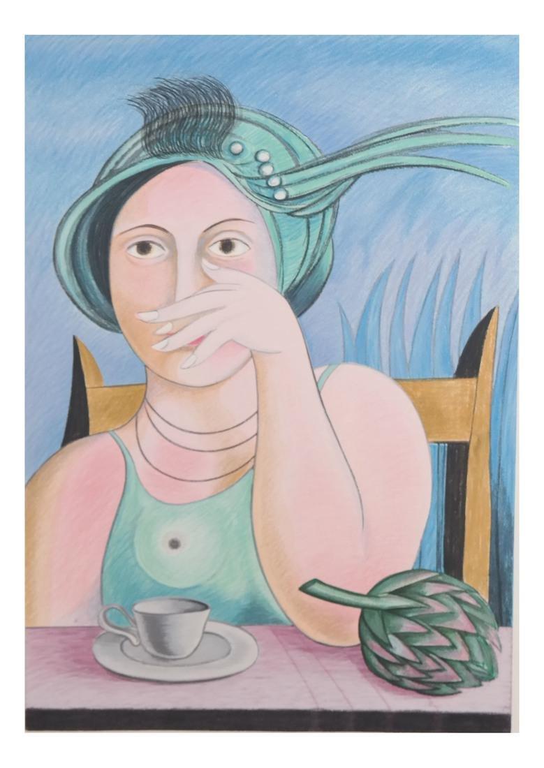 Surrealist-Style Portrait, Print