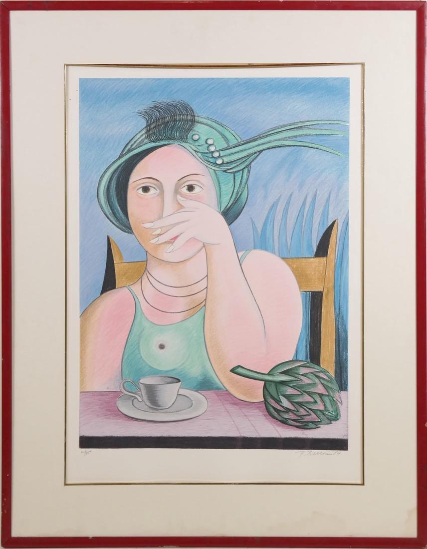 Surrealist-Style Portrait, Print - 2