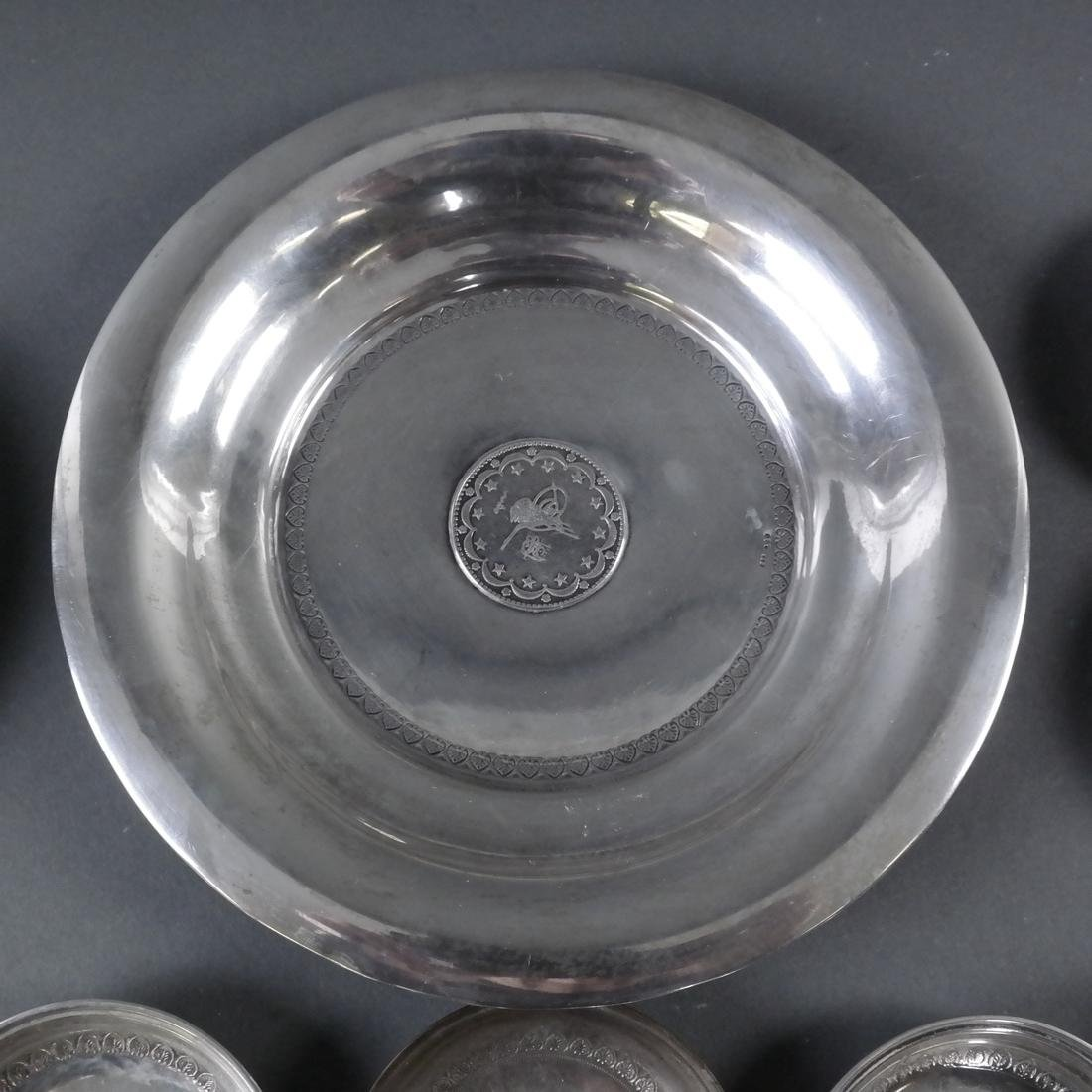 Group of 21 .800 Standard Silver Plates - 4