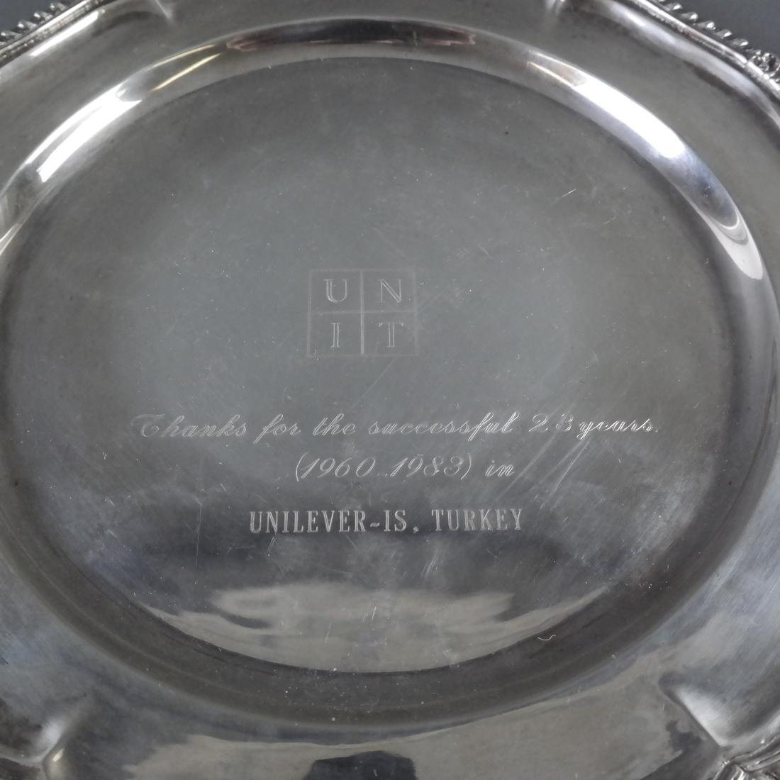 4 .900 Standard Silver Graduated Platters - 10