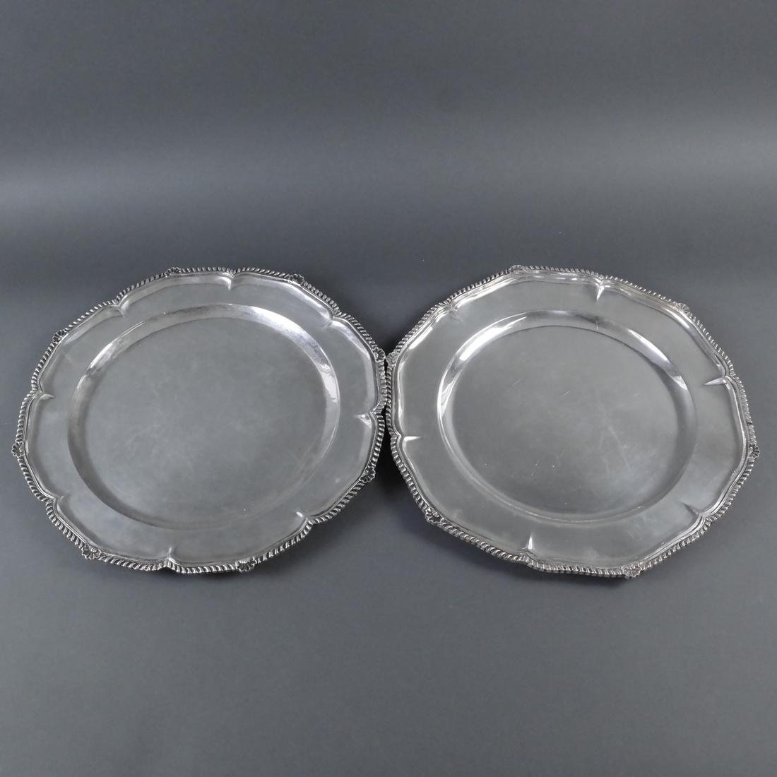 4 .900 Standard Silver Graduated Platters - 6