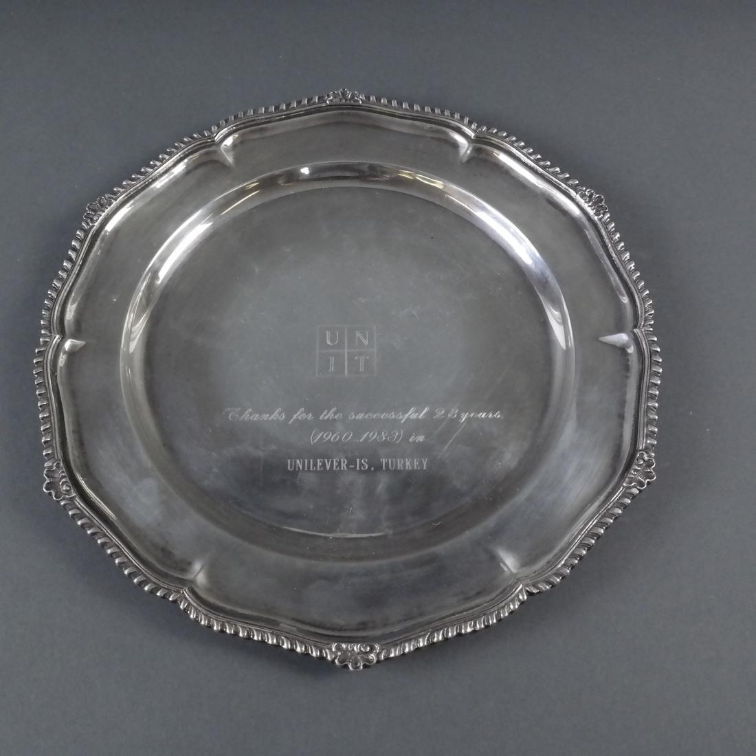 4 .900 Standard Silver Graduated Platters - 9