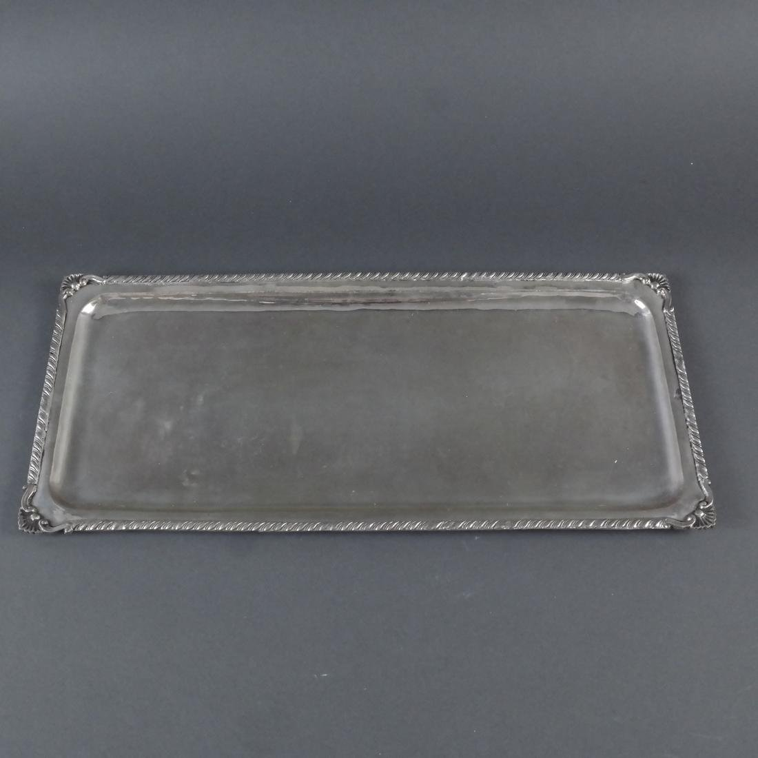 2 .900 Standard Silver Rectangular Trays - 4